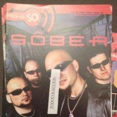 Revistas de música: PACK DE SO 46 (JUNY 2002) SOBER,SINIESTRO TOTAL,CASKARRABIAS,DR.DESEO,ORISHAS,KAIRA,O JARBANZO NEGRO. Lote 68970513