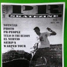 Revistas de música: P R SKATEZINE FANZINE TEXAS SI THE REASON EL NERVIO SERPA WARPED TOUR 1998. Lote 68570529