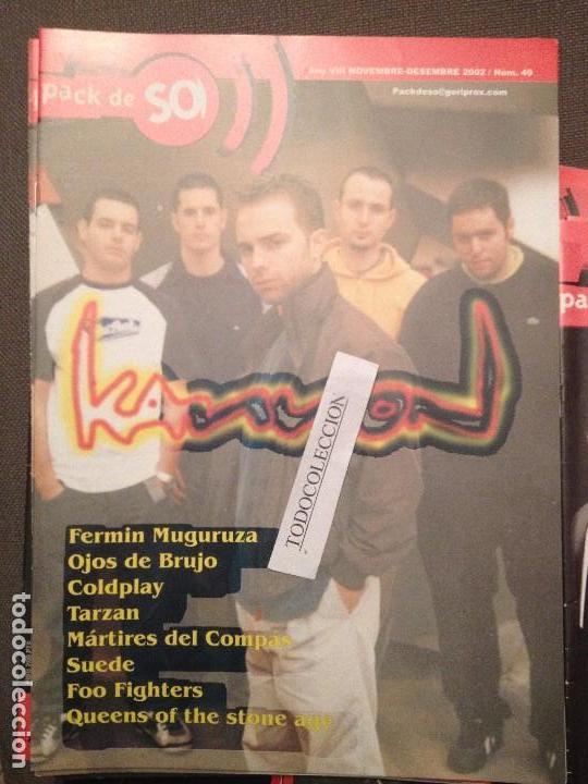 PACK DE SO 49 DESEMBRE 2002: KANNON,F.MUGURUZA,COLDPLAY,TARZAN,MARTIRES COMPAS,SUEDE,FOO FIGHTERS (Música - Revistas, Manuales y Cursos)