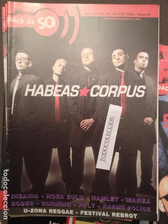 PACK DE SO 47 AGOST 2002:HABEAS CORPUS,INSANIA,SOBER,BURNING,HORA ZULU,KARMA POLICE,PI LT,MAREA (Música - Revistas, Manuales y Cursos)