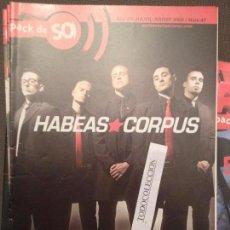 Revistas de música: PACK DE SO 47 AGOST 2002:HABEAS CORPUS,INSANIA,SOBER,BURNING,HORA ZULU,KARMA POLICE,PI LT,MAREA. Lote 68970445