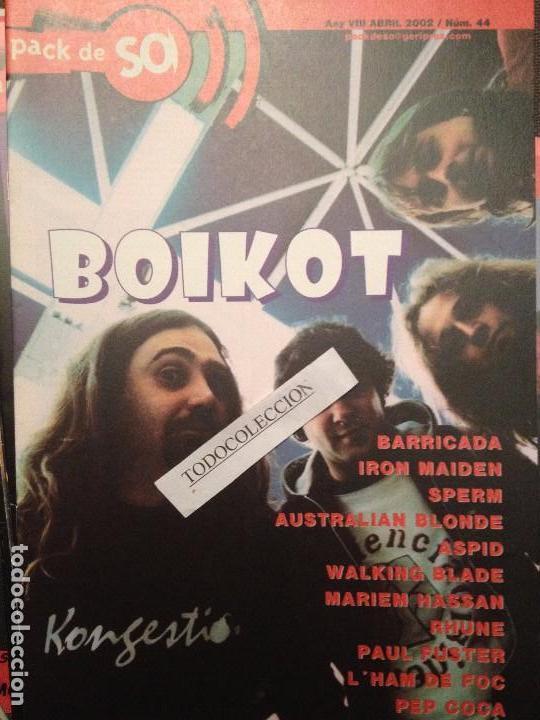 PACK DE SO 44 ABRIL 2002 BOIKOT,BARRICADA,IRON MAIDEN,SPERM,ASPID,HAM DE FOC,WALKING BLADE, (Música - Revistas, Manuales y Cursos)