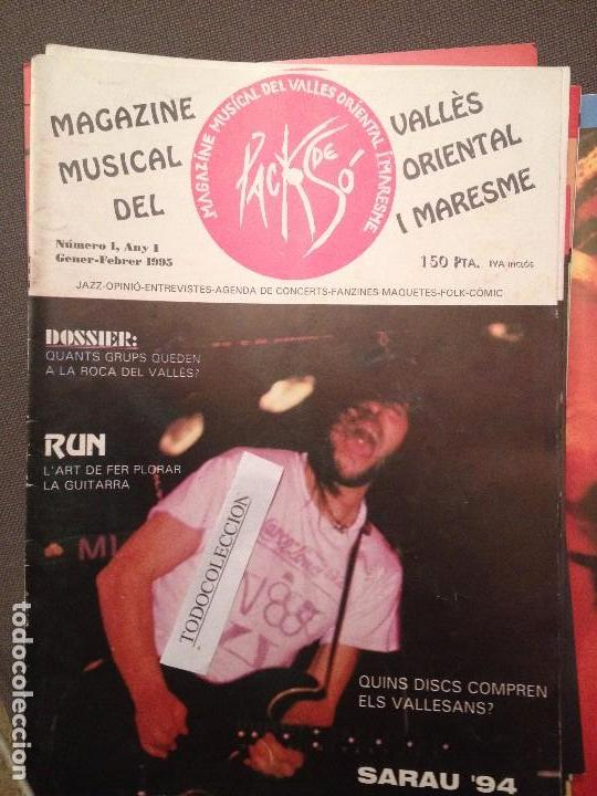 PACK DE SO 1 GENER 1995,GRUPS ROCA DEL VALLES,RUN,SARAU 94,BUDELLAM,TRO,SANDRA MARCH,XESCO BOIX (Música - Revistas, Manuales y Cursos)