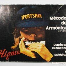 Revistas de música: CURSO METODO DE ARMONICA POR CIFRA, DIATONICA CROMATICA Y MELODICA, HIGMA, MARIANO BIU ZARAGOZA 1977. Lote 69253649