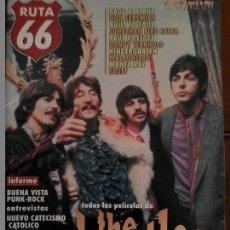 Revistas de música: REVISTA RUTA 66 THE BEATLES . Lote 69288649