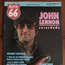 Revistas de música: REVISTA RUTA 66 THE BEATLES JOHN LENNON . Lote 69288789