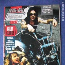 Revistas de música: POPULAR 1. GILBY CLARKE (GUNS&ROSES)PORTADA Nº 250 - AGOSTO 94 PDELUXE. Lote 69530105