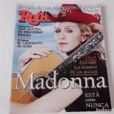 Revistas de música: REVISTA ROLLING STONE Nº 12 - MADONNA / BEATLES / SERRAT / GISELE CON POSTER GIGANTE. Lote 69687493