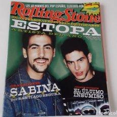 Revistas de música: REVISTA ROLLING STONE Nº 15 - ESTOPA / 40 MEJORES DEL POP ESPAÑOL / STING. Lote 69688529