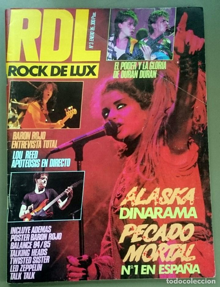 ROCK DE LUX Nº 3, ENERO 1985. ALASKA, DURAN DURAN, LOU REED, BARÓN ROJO, TALK TALK, TWISTED SISTER (Música - Revistas, Manuales y Cursos)
