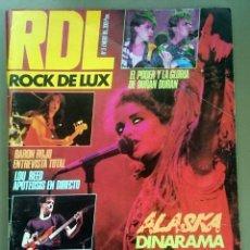 Revistas de música: ROCK DE LUX Nº 3, ENERO 1985. ALASKA, DURAN DURAN, LOU REED, BARÓN ROJO, TALK TALK, TWISTED SISTER. Lote 69709241
