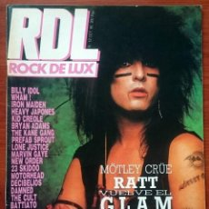Revistas de música: ROCK DE LUX Nº 12, OCT 1985. MÖTLEY CRÜE, RATT, BILLY IDOL, WHAM!, NEW ORDER, MOTORHEAD, DECIBELIOS. Lote 69716769