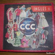 Revistas de música: CURSO DE INGLES 1 GRADO Y 2 GRADO ENSENA A DISTANCIA POLYGLOPHONE EP 78 RPM Y45 RPM VER FT ADICIONAL. Lote 70574765