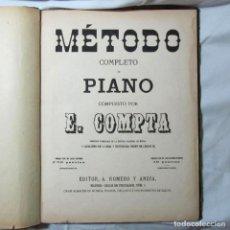 Revistas de música: MÉTODO COMPLETO DE PIANO E. COMPTA 1873. Lote 70575825