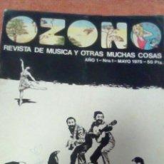 Revistas de música: REVISTA OZONO MÚSICA Y OTRAS COSAS MÁS, N'1 AÑO 1975. Lote 70586283