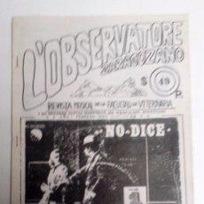 Revistas de música: L´OBSERVATORE ZARAGOZANO FANZINE MUSICAL DE LA FACULTAD DE VETERINARIA 1983 Nº1 . Lote 71590451