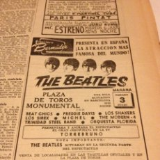 Revistas de música: THE BEATLES - ANUNCIO DE LA VANGUARDIA - ORIGINAL. Lote 71564859
