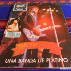 Revistas de música: POPULAR 1 Nº ESP A 112 ESPECIAL BON JOVI. FEBRERO 1989 PÓSTER ENCARTADO. UNA BANDA DE PLATINO. RARO.. Lote 72210907