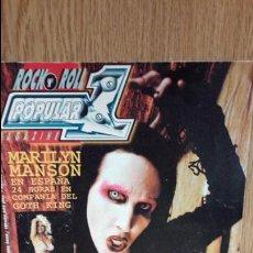 Revistas de música: POPULAR 1. Nº 325. MARILYN MANSON EN ESPAÑA / BUNNY YEAGER /WATERBOYS Y OTROS.. Lote 72727675