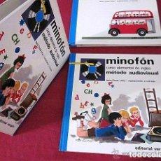 Revistas de música: MINOFÓN. CURSO ELEMENTAL DE INGLÉS. MÉTODO AUDIOVISUAL. EDITORIAL VERGARA. 1967. 5 VINILOS Y LIBRO.. Lote 73000031