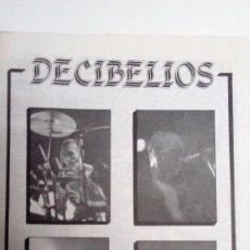 DECIBELIOS HISTÓRICO FANZINE CON COMICS, POSTER, LETRAS, DISCOS...DEL GRUPO ORIGINAL