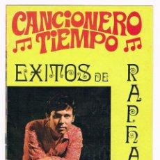 Revistas de música: CANCIONERO - RAPHAEL - 1972. Lote 74199719