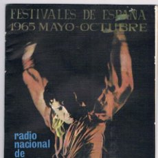 Revistas de música: FESTIVAL DE ESPAÑA - 1965 - RADIO NACIONAL - FESTIVALES DE ESPAÑA. Lote 74200651