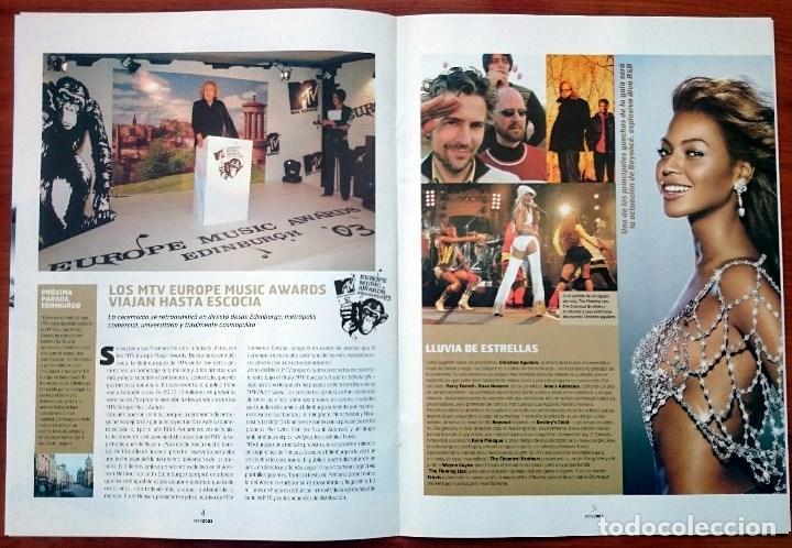Revistas de música: MTV Europe Music Awards Edinburgh 2003, 12 pág. Christina Aguilera, Beyoncé, Pink, Timberlake - Foto 2 - 74835727