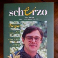 Revistas de música: REVISTA SCHERZO Nº 107. Lote 75438611