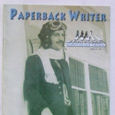 Revistas de música: REVISTA FANZINE PAPERBACK WRITER Nº 11 CLUB FANS DE LOS BEATLES DE VALENCIA. Lote 75574483