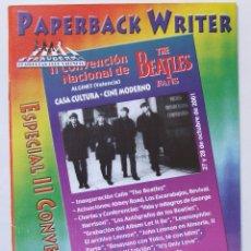 Revistas de música: REVISTA FANZINE ESPECIAL SEGUNDA CONVENCIÓN NACIONAL BEATLES FANS ALGINET VALENCIA OCTUBRE 2001. Lote 75575119