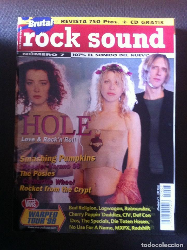 REVISTA MUSICAL ROCK SOUND Nº 7 - HOLE - THE SMASHING PUMPKINS (Música - Revistas, Manuales y Cursos)