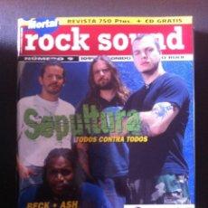Revistas de música: REVISTA MUSICAL ROCK SOUND Nº 9 - SEPULTURA - TERRORVISION. Lote 75704875