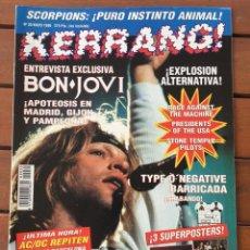 Revistas de música: KERRANG 30 - MAYO 96 . BON JOVI . METALLICA . SCORPIONS . STONE TEMPLE PILOTS . DEF LEPPARD. Lote 76766655