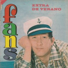 Revistas de música: REVISTA FANS EXTRA DE VERANO (8 DE AGOSTO DE 1966) POSTER DE LOS TRES SUDAMERICANOS. Lote 77283713