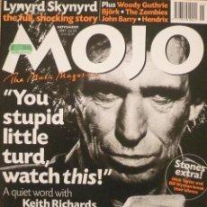 Revistas de música: REVISTA MOJO Nº 48 / NOVIEMBRE 1997 / PORTADA Y PÁGINAS ESPECIALES DEDICADAS A KEITH RICHARDS. Lote 77341473