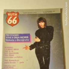 Revistas de música: RUTA 66 - 43 - 1989 PRETENDERS. BURNING. CELIBATE RIFLES. THE PLIMSOUULS. THE PIXIES. LOS AMATEURS. . Lote 77452597