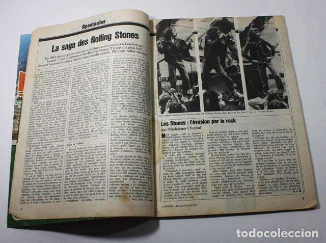 Revistas de música: REVISTA FRANCESA L'EXPRESS Nº 1255 1975 11 PAGINAS DE MICK JAGGER Y ROLLING STONES - Foto 2 - 77531069