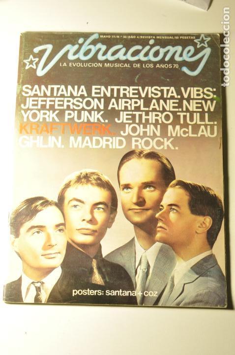 VIBRACIONES - NUM 32 SANTANA KRAFTWERK JEFFERSON AIRPLANE JETHRO TULL NEW YORK PUNK MADRID ROCK... (Música - Revistas, Manuales y Cursos)