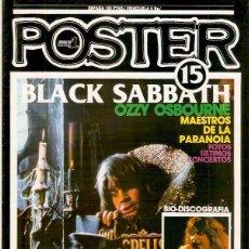 Revistas de música: POSTER Nº 11 POPULAR 1 HEAVY METAL BLACK SABBATH OZZY OSBOURNE SUPER POSTER 60 X 80 . Lote 79857417