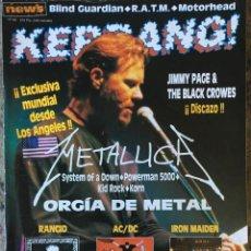 Revistas de música: KERRANG 82 . AC/DC . METALLICA . RANCID . JIMMY PAGE & THE BLACK CROWES . IRON MAIDEN. Lote 80804515