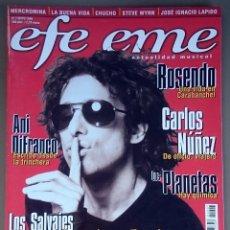 Revistas de música: REVISTA EFE EME Nº 7, MAYO 1999. CALAMARO, LOS PLANETAS, CARLOS NÚÑEZ, ROSENDO, LOS SALVAJES, LAPIDO. Lote 81059772
