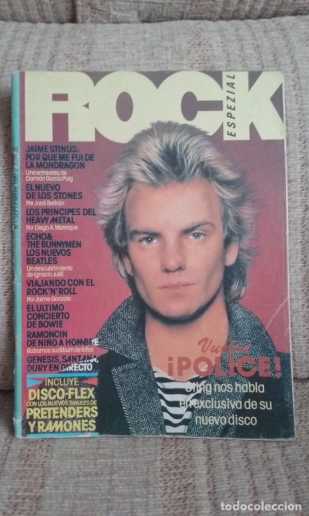 REVISTA ROCK ESPEZIAL Nº 1 SEPTIEMBRE 1981 (Música - Revistas, Manuales y Cursos)