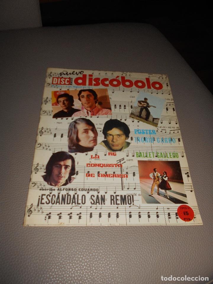 REVISTA DISCOBOLO Nº 292 1971 KARINA INGRID GARBO TOM JONES JOSE JUAN 15 PTS. (Música - Revistas, Manuales y Cursos)