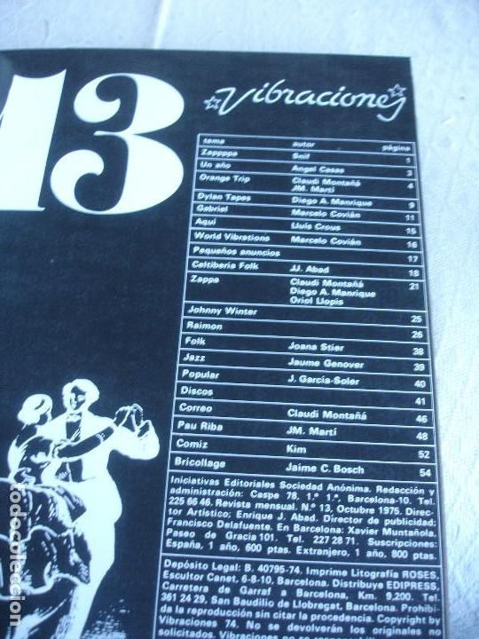 Revistas de música: Vibraciones. La evolución musical de los años 70. (Números de 13 a 18) - Foto 4 - 82043000