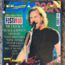 Revistas de música: HEAVY ROCK 192 . METALLICA . FESTIMAD . BLACK CROWES . MINISTRY . BACKYARD BABIES .. Lote 82066128