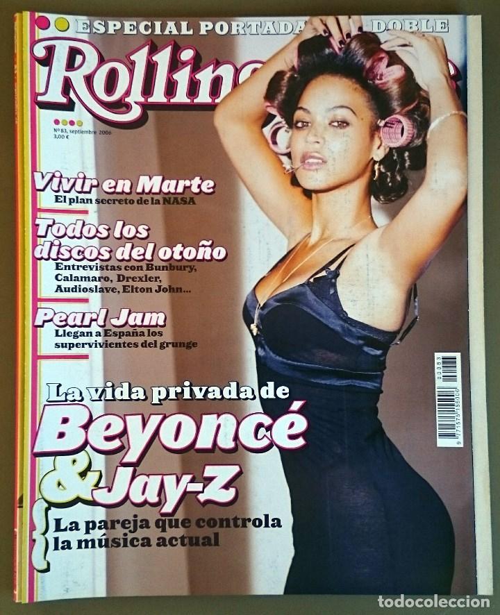 ROLLING STONE Nº 83, SEPT 2006. BEYONCÉ & JAY-Z, PEARL JAM, BOB DYLAN, BUNBURY, FITO (Música - Revistas, Manuales y Cursos)