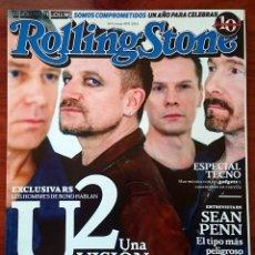 Revistas de música: ROLLING STONE Nº 113, MARZO 2009. U2, ESPECIAL TECNO, SEAN PENN,JARABE DE PALO,THE KILLERS,CATPEOPLE. Lote 82718320