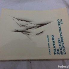 Revistas de música: TRATADO DE SOLFEO CONTEMPORANEO-IIA-JOSE LUIS TEMES. Lote 82994828