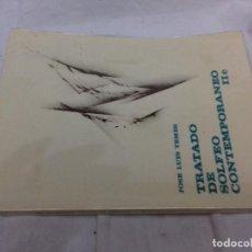 Revistas de música: TRATADO DE SOLFEO CONTEMPORANEO-JOSE LUIS TEMES-IIC. Lote 82995420